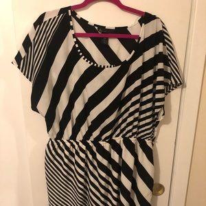 Lane Bryant black/white stripe career dress. 18/20